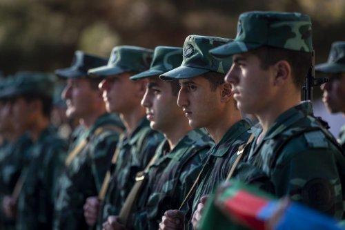 Azerbaijani military forces in Zangilan, Azerbaijan on 8 November 2020 [Arif Hüdaverdi Yaman/Anadolu Agency]