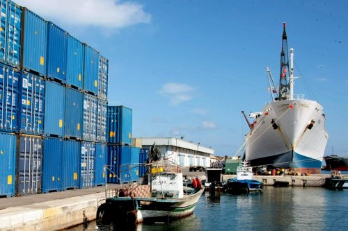 Containers are in the port of Sousse in Tunisia on 19 October 2011 [BECHIR BETTAIEB/AFP/Getty Images]