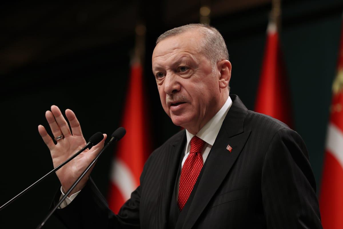 President of Turkey, Recep Tayyip Erdogan in Ankara, Turkey on 30 November 2020 [Murat Kula/Anadolu Agency]