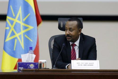 Prime Minister of Ethiopia, Abiy Ahmed addresses the House of Peoples' Representatives in Addis Ababa, Ethiopia on November 30, 2020 [Minasse Wondimu Hailu/Anadolu Agency]