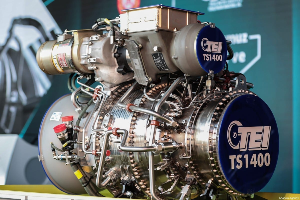 The opening ceremony of delivery and design centre for the first indigenous helicopter engine TEI-TS1400, held on December 05, 2020 in Eskisehir, Turkey [Raşid Necati Aslım / Anadolu Agency]