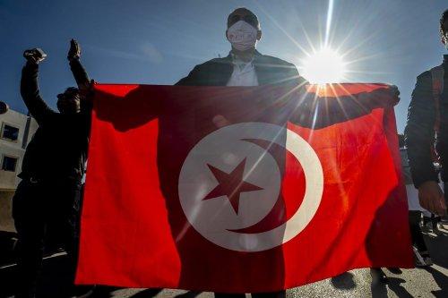 Tunisian flag in Tunis, Tunisia on December 08, 2020 [Yassine Gaidi/Anadolu Agency]