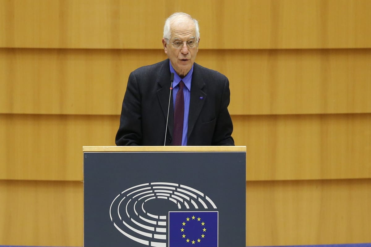 High Representative of EU for Foreign Affairs and Security Policy Joseph Borrell in Brussels, Belgium on 15 December 2020 [Dursun Aydemir/Anadolu Agency]