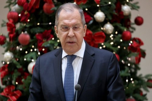 Russian Foreign Affairs Minister Sergey Lavrov in Croatia on 16 December 2020 [Stipe Majic/Anadolu Agency]