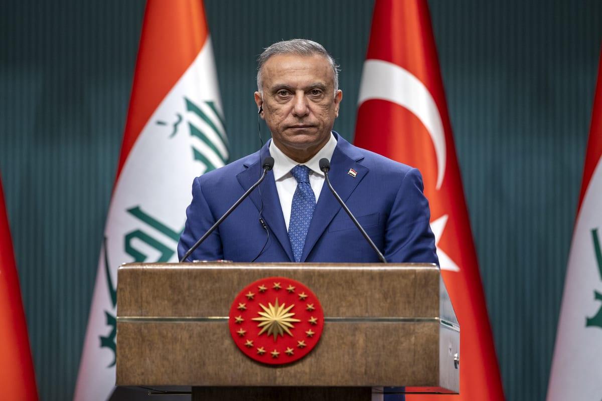 Iraqi Prime Minister Mustafa Al-Kadhimi in Ankara, Turkey on 17 December 2020 [Ali Balıkçı/Anadolu Agency]