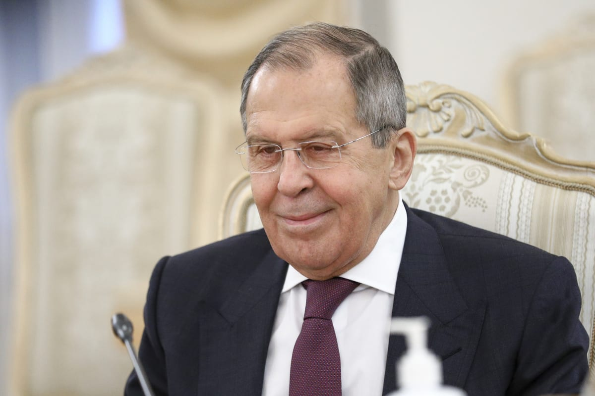 Russian Foreign Minister Sergey Lavrov in Moscow, Russia on 23 December 2020 [RUS Foreign Ministry Press Office/Anadolu Agency]