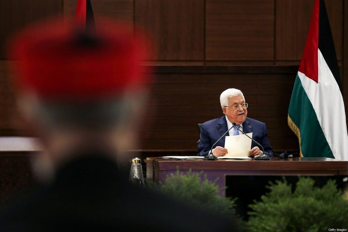 Palestinian president Mahmud Abbas in Ramallah, West Bank on 3 September 2020 [ALAA BADARNEH/POOL/AFP/Getty Images]