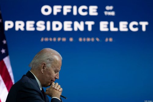 US President-elect Joe Biden speaks with outside diplomatic, intelligence, and defense experts to discuss readiness at the relevant agencies during a video meeting in Wilmington, Delaware on 17 November 2020. [JIM WATSON/AFP via Getty Images]