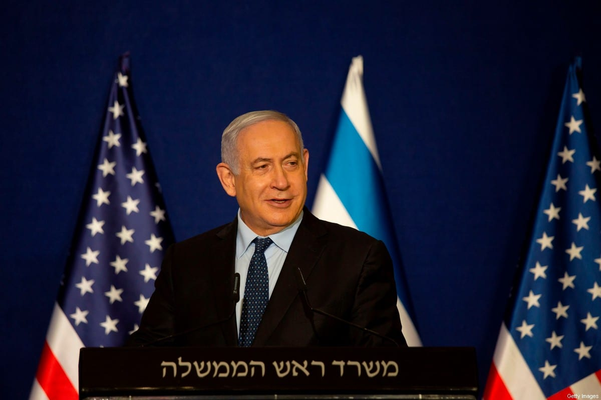 Israeli Prime Minister Benjamin Netanyahu speaks next to US Secretary of State during a joint statement after meeting in Jerusalem on November 19, 2020 [MAYA ALLERUZZO/POOL/AFP via Getty Images]