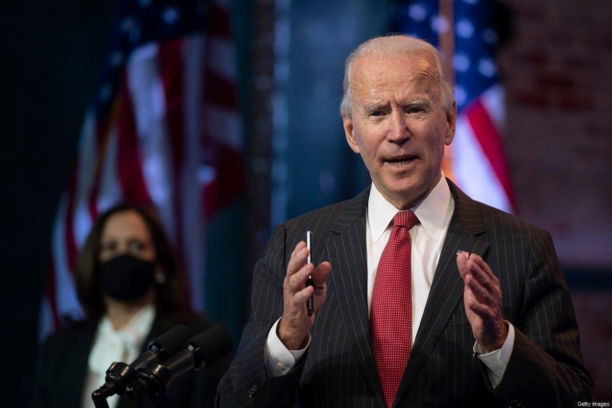 US President-elect Joe Biden in Delaware, US on 19 November 2020 [JIM WATSON/AFP/Getty Images]