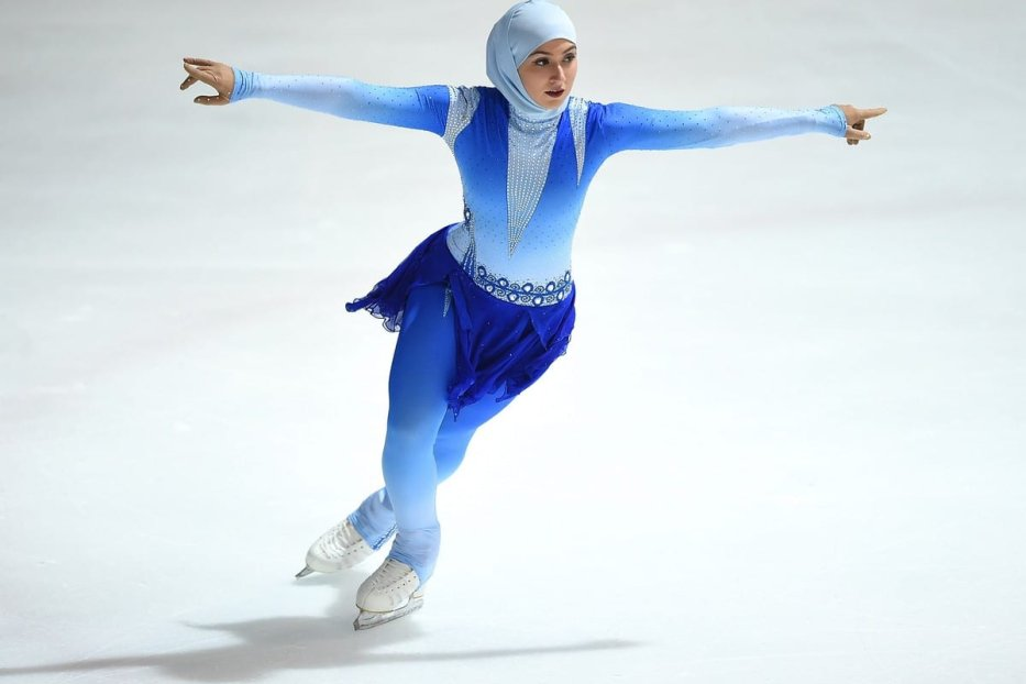 Zahra Lari competes during FBMA Trophy for Figure Skating in Abu Dhabi, UAE on 5 January 2017 [Tom Dulat/Getty Images]