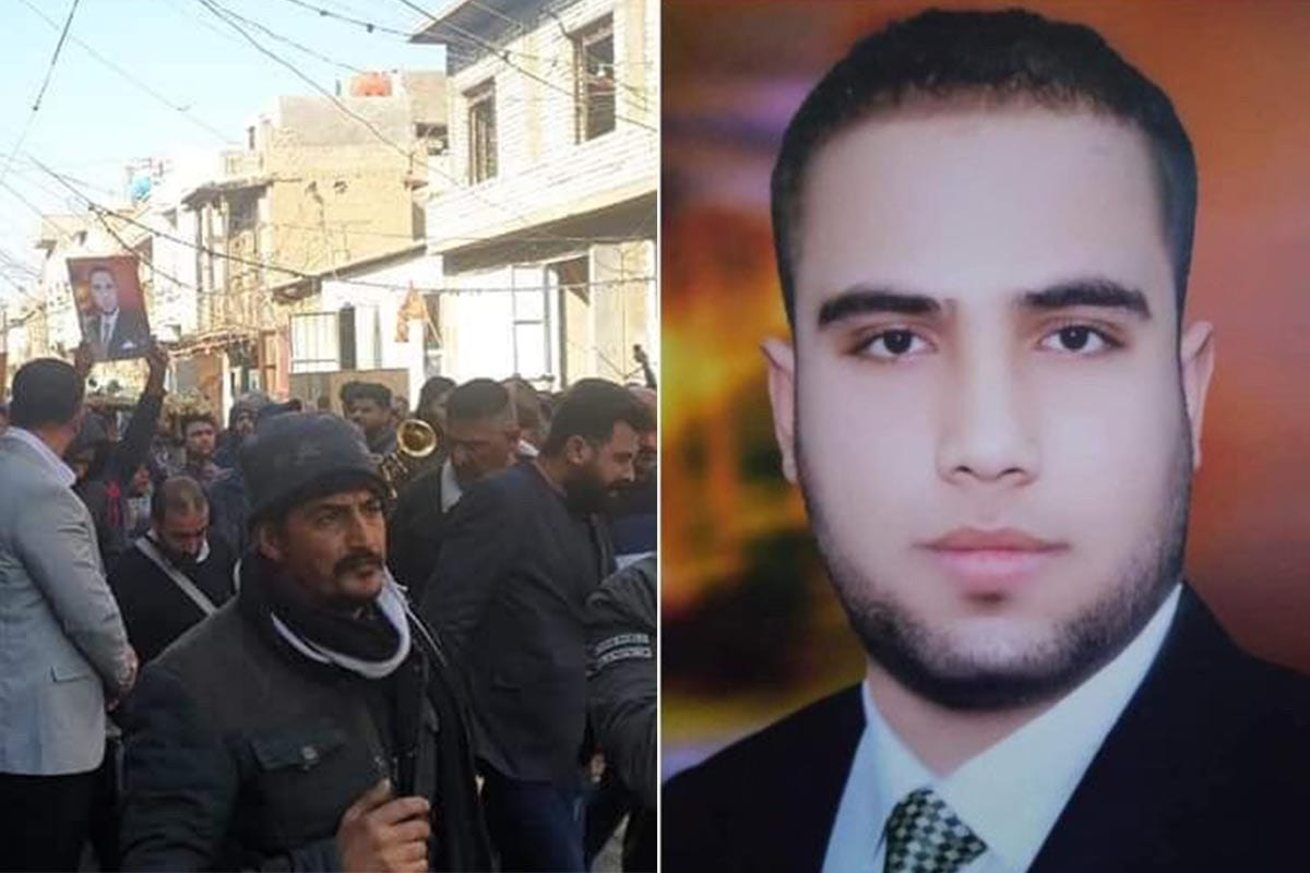 Baghdad street sweeper Issa Khamis died of his wounds on 21 December 2020 after finding a bag the night before containing a bomb placed in front of a liquor store in Iraq [@thestevennabil /Twitter]