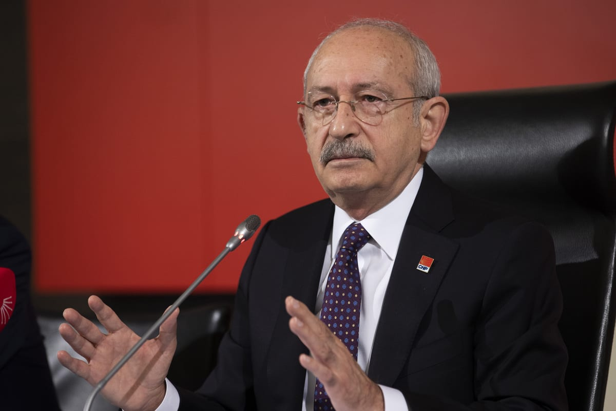 Leader of the Republican People's Party (CHP), Kemal Kilicdaroglu gives a news briefing at the party headquarters, in Ankara, Turkey on January 05, 2021 [Aytaç Ünal / Anadolu Agency]