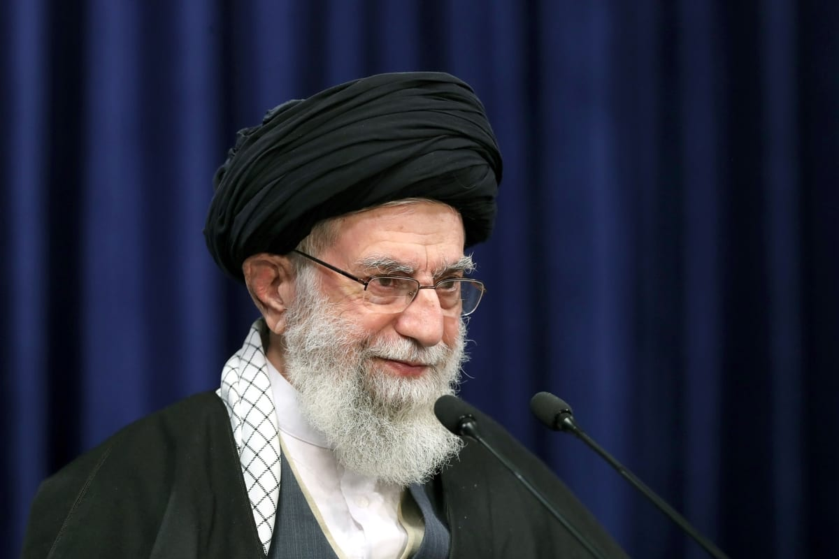 Iranian Supreme Leader Ali Khamenei in Tehran, Iran on January 08, 2021 [Iranian Leader Press Office/Anadolu Agency]