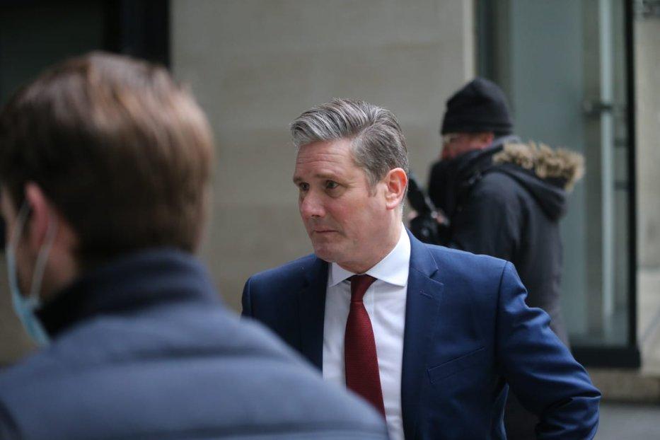 LONDON, UNITED KINGDOM - JANUARY 10: British Labour Party leader Keir Starmer leaves the BBC headquarters in London, United Kingdom on January 10 2021. ( Tayfun Salci - Anadolu Agency )