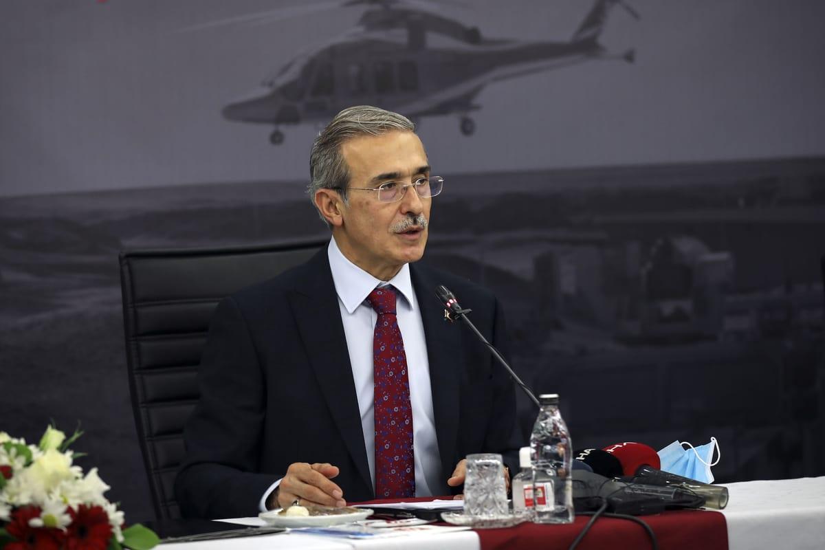 Turkey's Defense Industries Presidency (SSB) Head, Ismail Demir in Ankara, Turkey on January 11, 2021 [Hakan Nural/Anadolu Agency]