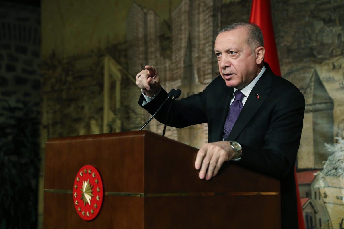 Turkish President Recep Tayyip Erdogan in Istanbul, Turkey on 15 January 2021 [TUR Presidency/Murat Cetinmuhurdar/Anadolu Agency]