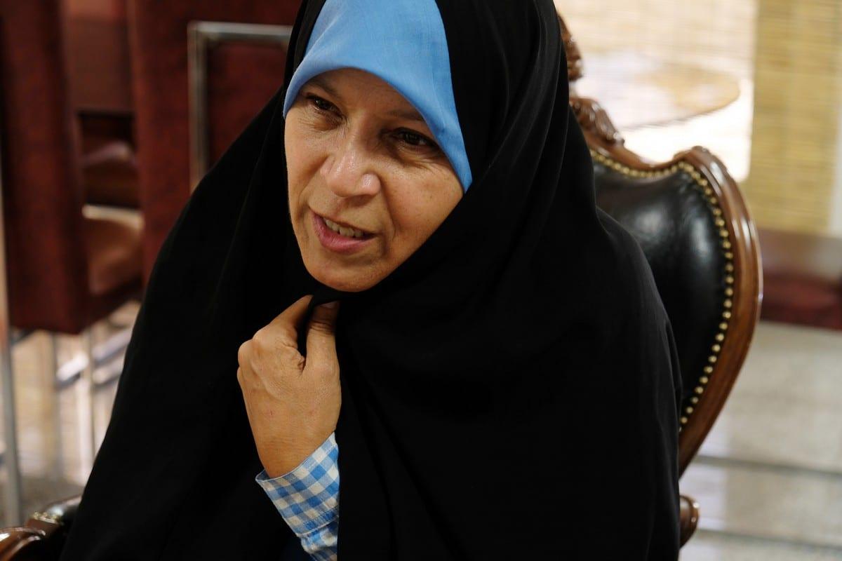 Faezeh Hashemi Rafsanjani the daughter of late Iranian president Hojatoleslam Akbar Hashemi Rafsanjani in Tehran, Iran J0n 18 June 2018 [Kaveh Kazemi/Getty Images]