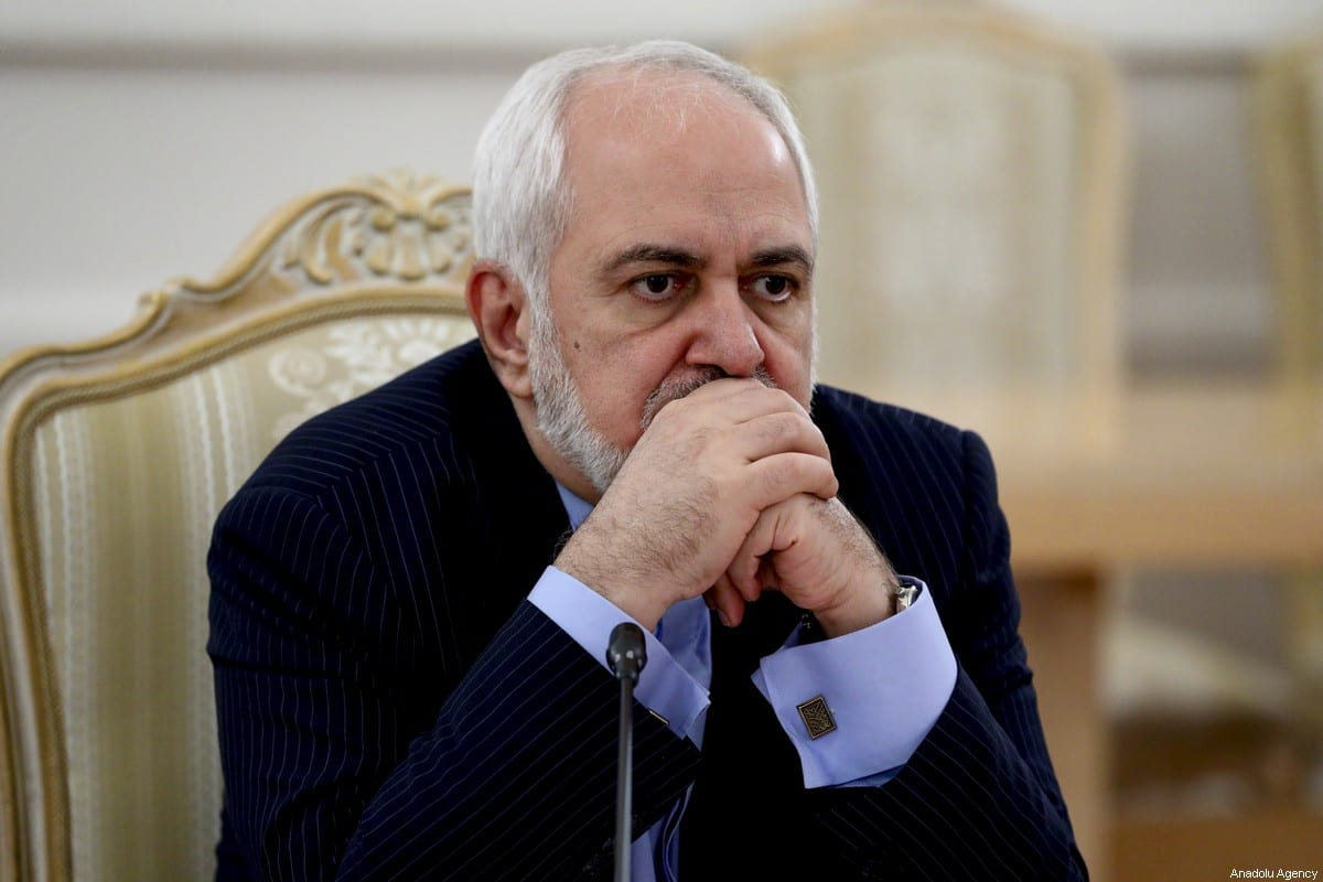 Iranian Foreign Minister Javad Zarif in Moscow, Russia on January 26, 2021 [Russian Foreign Ministry/Handout/Anadolu Agency]