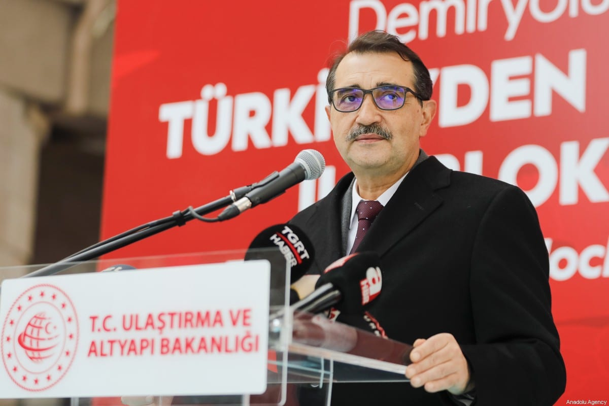 Turkish Energy and Natural Resources Minister Fatih Donmez in Ankara, Turkey on 29 January 2021 [Celal Güneş/Anadolu Agency]