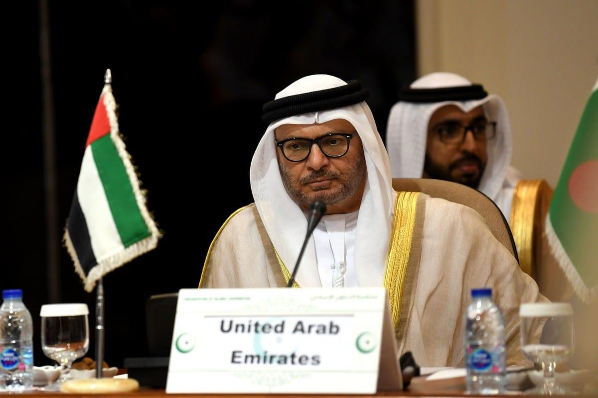 UAE's Minister of State for Foreign Affairs Anwar Gargash in Jeddah on 17 July 2019. [AMER HILABI/AFP/Getty Images]