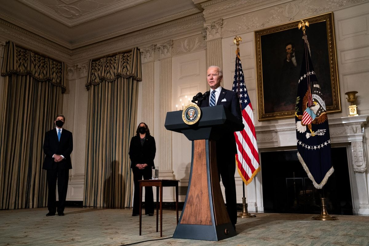 US President Joe Biden on January 27, 2021 in Washington, DC [Anna Moneymaker-Pool/Getty Images]