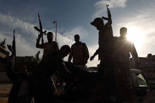 Members of a brigade loyal to Khalifa Haftar in Benghazi, Libya on December 17, 2014 [ABDULLAH DOMA/AFP via Getty Images]
