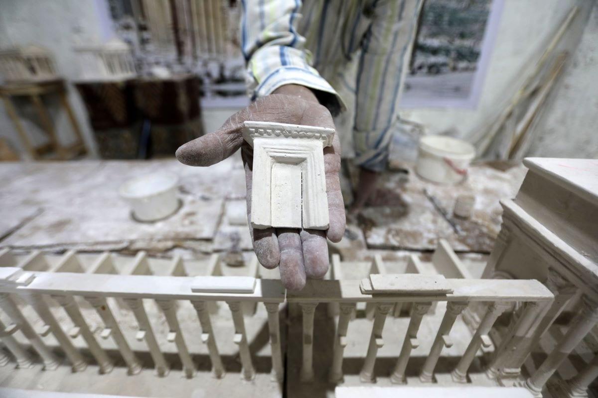 Model of a Syrian archaeological site city [BAKR ALKASEM/AFP via Getty Images]