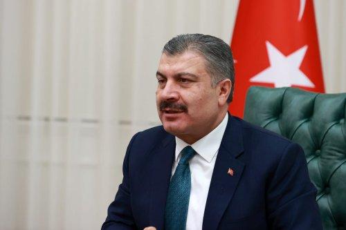 Turkish Minister of Health Fahrettin Koca on February 3, 2021 in Ankara, Turkey. ( Aytuğ Can Sencar - Anadolu Agency )
