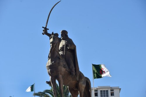 A memorial statue of historic Algerian leader Emir Abdelkader in Algiers, Algeria on 28 January 2021 [RYAD KRAMDI/AFP/Getty Images]