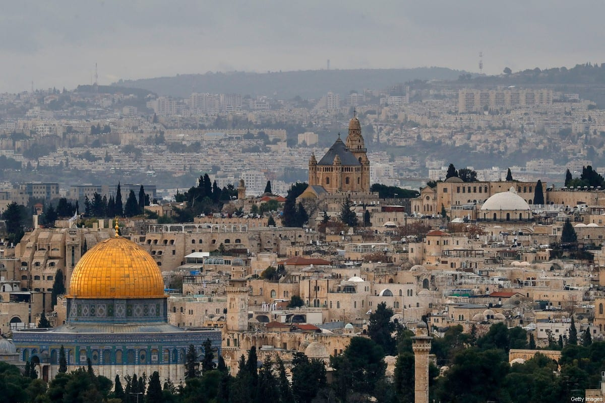 The Dome of the Rock in the Al-Aqsa Mosque in Jerusalem, 15 January 2021 [AHMAD GHARABLI/AFP/Getty Images]