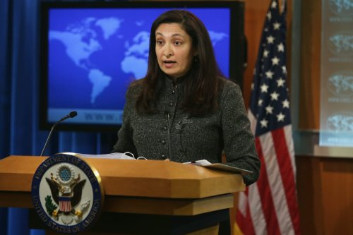 Acting Assistant US Secretary of State for Bureau of Democracy, Human Rights and Labor Uzra Zeya speaks on the annual Human Rights Report 27 February 2014 at the State Department in Washington, DC. [Alex Wong/Getty Images]