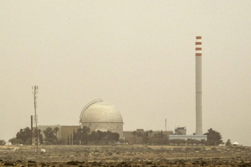 A picture taken on March 8, 2014 show a partial view of the Dimona nuclear power plant in the southern Israeli Negev desert. AFP PHOTO / JACK GUEZ (Photo credit should read JACK GUEZ/AFP via Getty Images)