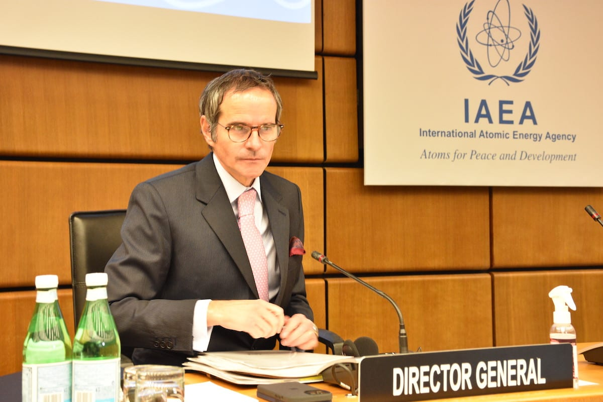 Rafael Mariano Grossi, Director General of the International Atomic Energy Agency (IAEA) in Vienna, Austria on 1 March 2021 [Aşkın Kıyağan/Anadolu Agency]