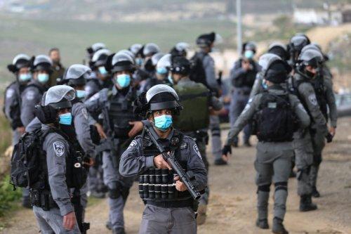 Israeli soldiers in East Jerusalem on 1 March 2021 [Mostafa Alkharouf/Anadolu Agency]