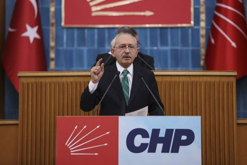 Leader of the Republican People's Party (CHP), Kemal Kilicdaroglu speaks during his party's group meeting at the Turkish Grand National Assembly, in Ankara, Turkey on 2 March 2021. [Muhammed Selim Korkutata - Anadolu Agency]