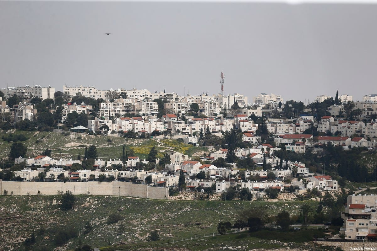 A general view of Ma'ale Adumim, an illegal Israeli settlement seven kilometers from Jerusalem on March 16, 2021 [Mostafa Alkharouf/Anadolu Agency]