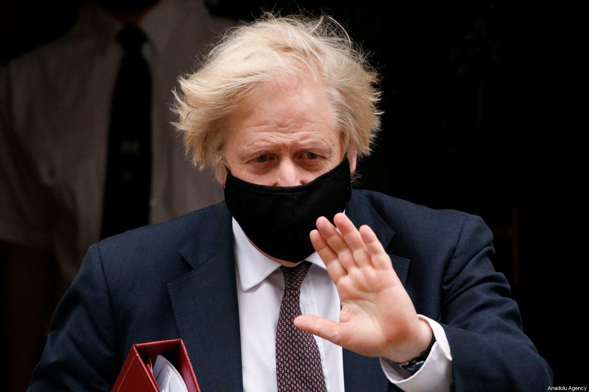 British Prime Minister Boris Johnson leaves 10 Downing Street in London, UK on 17 March 2021 [David Cliff/Anadolu Agency]