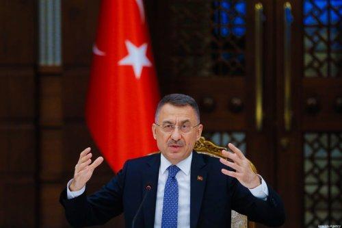 Turkish Vice President Fuat Oktay on March 17, 2021 in Ankara, Turkey [Muhammet Fatih Oğraş/Anadolu Agency]