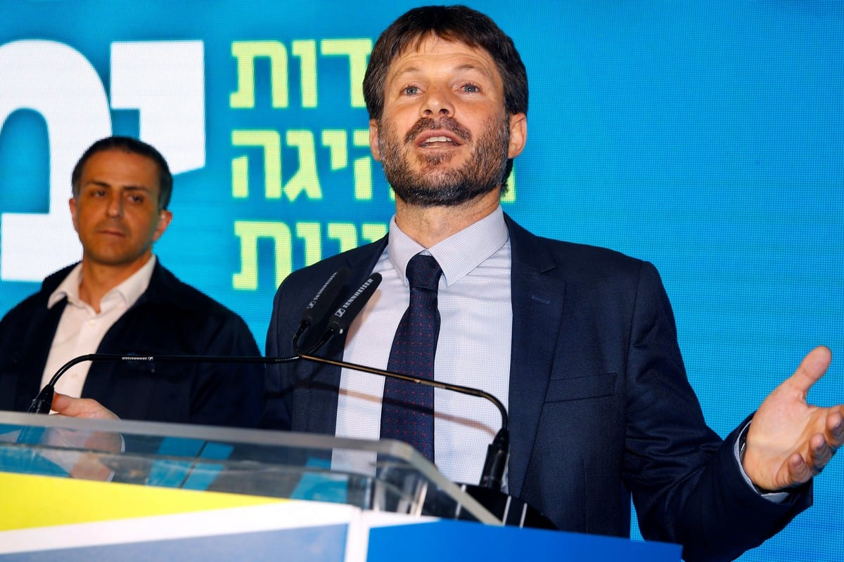 Religious Zionism Chairman Bezalel Smotrich on 12 August 2019 [JACK GUEZ/AFP/Getty Images]