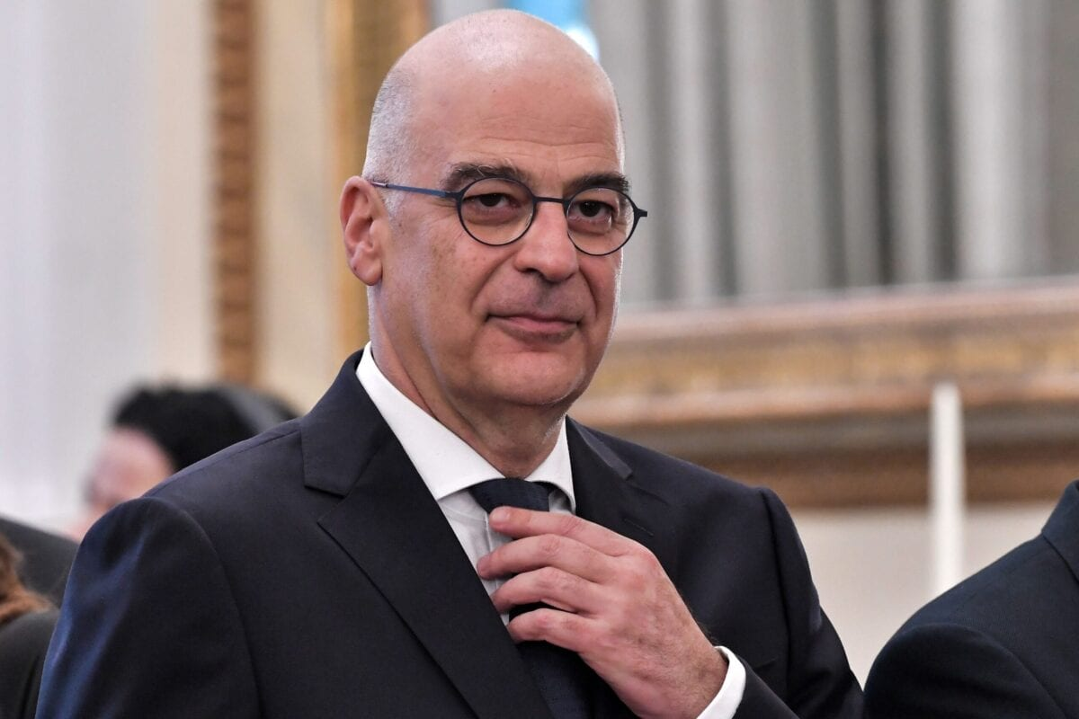 Greece's newly appointed Foreign Minister, Nikolaos-Georgios Dendias attends a swearing-in ceremony of the new cabinet at the presidential palace in Athens on July 9, 2019 [LOUISA GOULIAMAKI/AFP via Getty Images]
