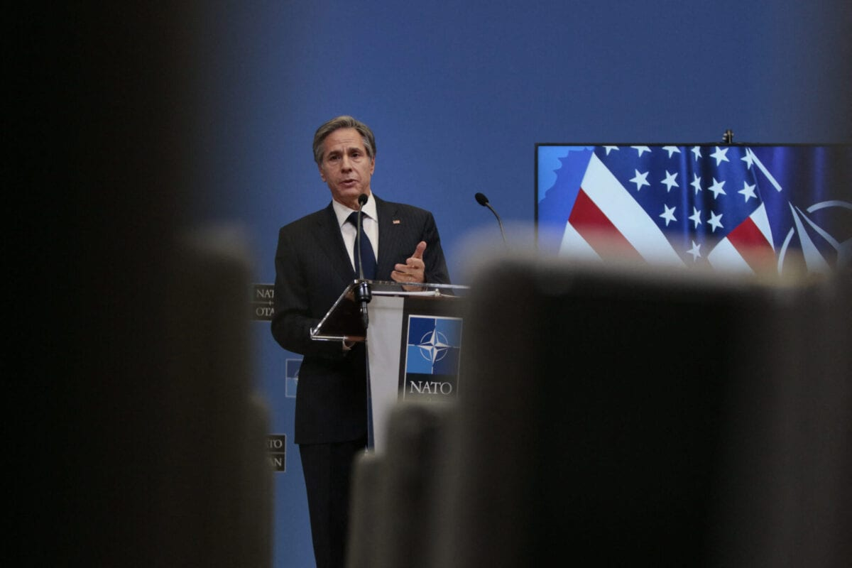 US Secretary of State Antony Blinken on March 24, 2021 [VIRGINIA MAYO/POOL/AFP via Getty Images]