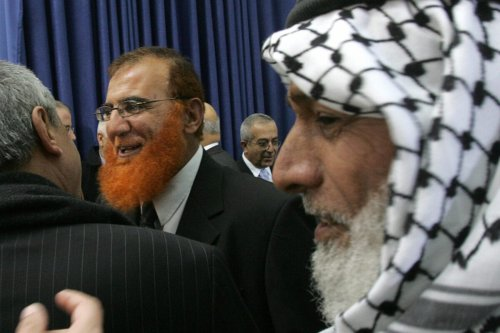Hamas MP Mohammed Abu Tair in the West Bank city of Ramallah 18 February 2006 [PEDRO UGARTE/AFP via Getty Images]