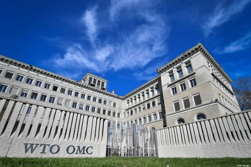The World Trade Organization (WTO) headquarters are seen in Geneva on April 12, 2018 [FABRICE COFFRINI/AFP via Getty Images]