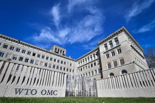 The World Trade Organization (WTO) headquarters are seen in Geneva on April 12, 2018. [FABRICE COFFRINI/AFP via Getty Images]