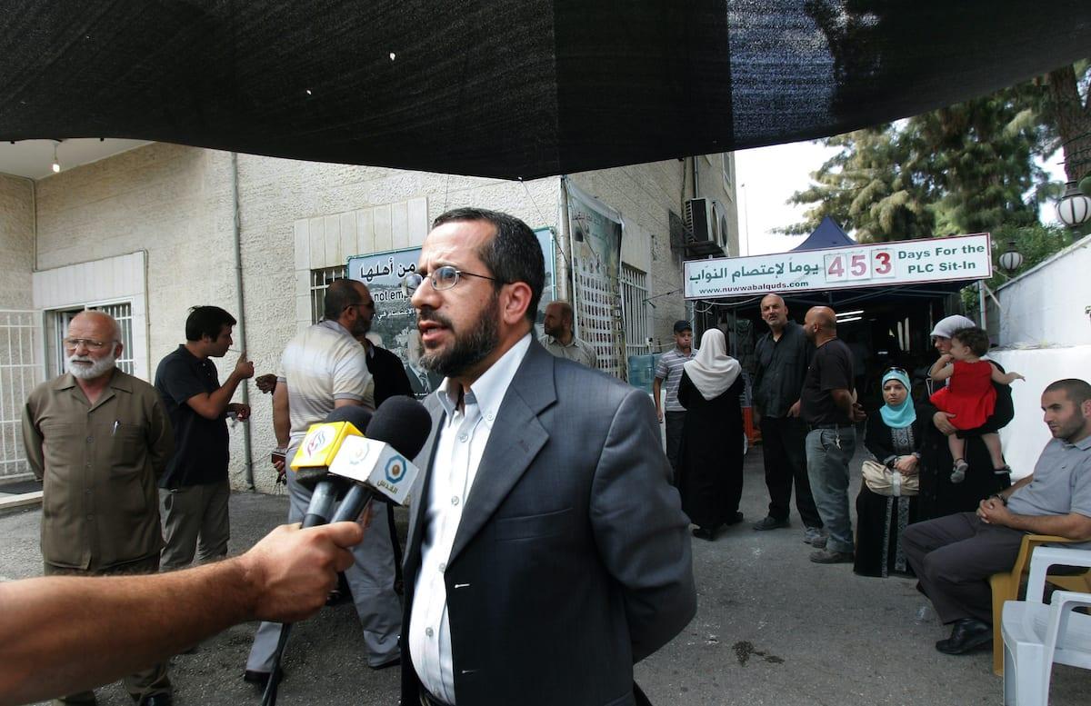 The former Palestinian minister of Jerusalem affairs on 26 September 2011 [Mahfouz Abu Turk/Apaimages]