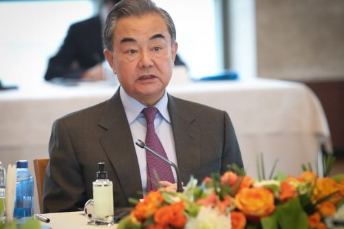Chinese Foreign Minister Wang Yi in Ankara, Turkey on 25 March 2021 [Turkish Foreign Ministry/Anadolu Agency]