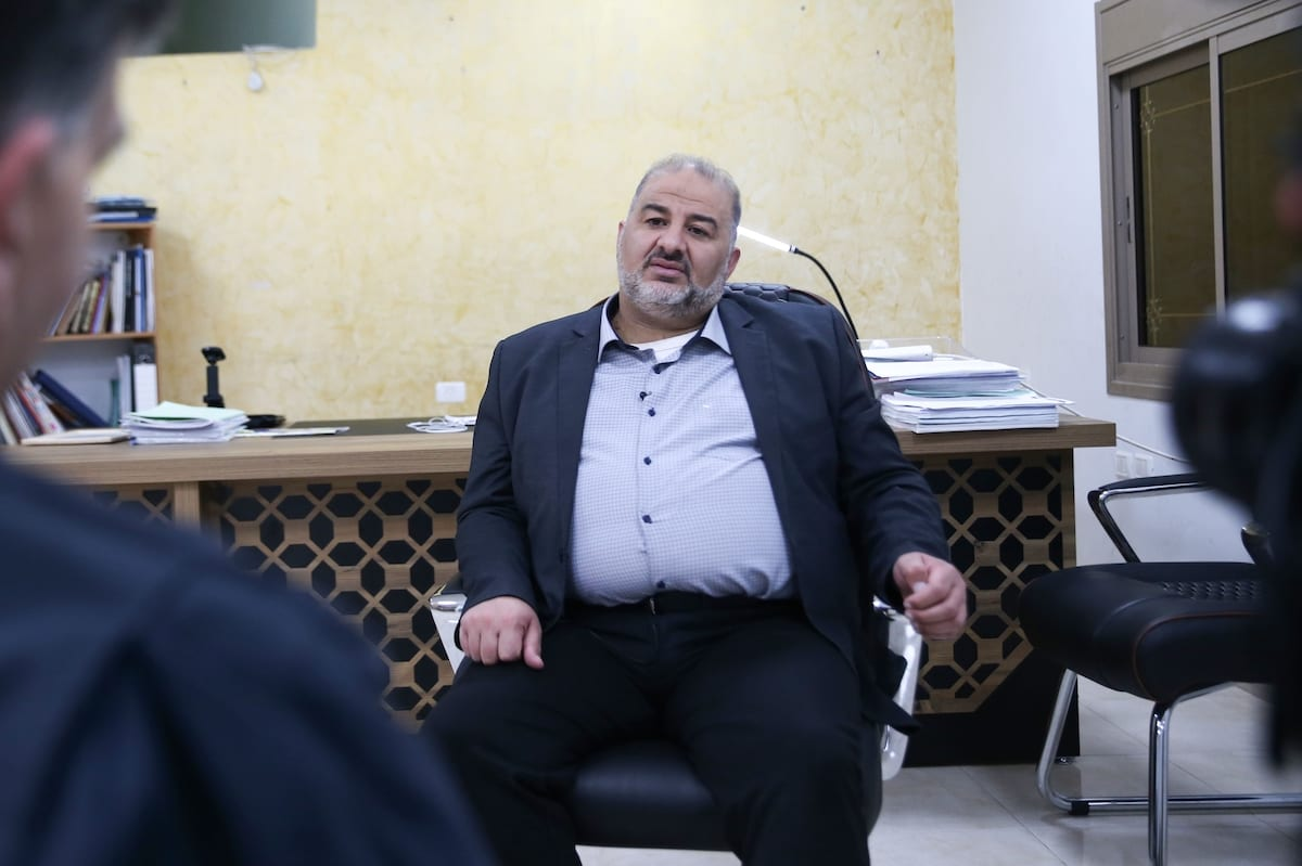 Mansour Abbas, leader of the United Arab List (Ra'am) speaks during an exclusive interview in Jerusalem, on March 31, 2021 [Mostafa Alkharouf/Anadolu Agency]