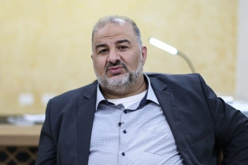 Mansour Abbas, leader of the United Arab List (Ra'am) in Jerusalem, on 31 March 2021 [Mostafa Alkharouf/Anadolu Agency]