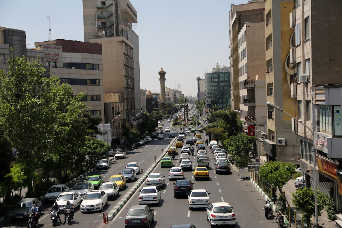 Generic view of traffic in Tehran, Iran, on April 17, 2021 [Fatemeh Bahrami / Anadolu Agency]